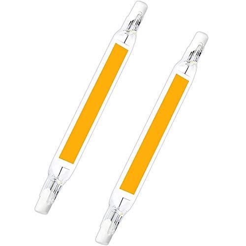 2 Piezas de Bombillas LED R7S, 20W 118mm 110V/230V Lámpara, LED COB de Doble Extremo 2000LM R7S 118 Luz Lineal de Reflector de Base Ángulo de Haz de 360°,Natural White,110V~140V