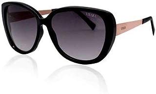 Óculos de Sol Gatinho em Acetato Preto e Salmão