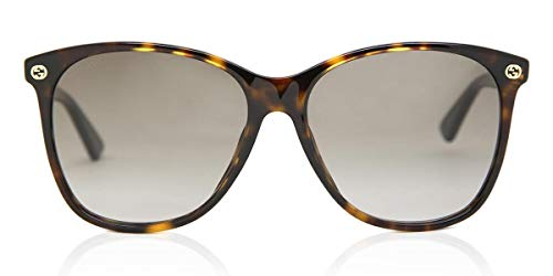 Sonnenbrillen Gucci GG0024S DARK HAVANA/BROWN SHADED 58/16/140 Damen
