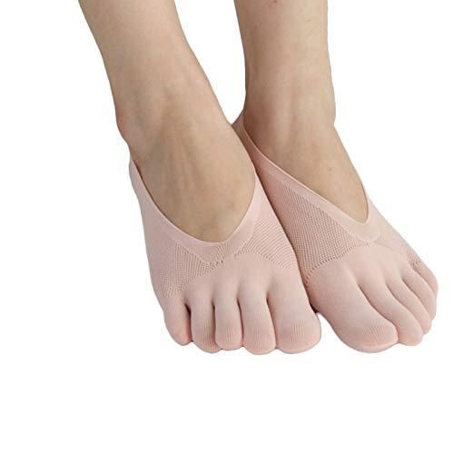 woyada Calcetines ortopédicos de compresión para mujer, calcetines de corte ultra bajo con pestaña de gel transpirable