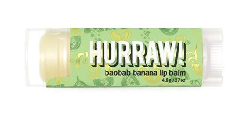 Hurraw Baobab Banana Lip Balm, 4.8g/.17oz