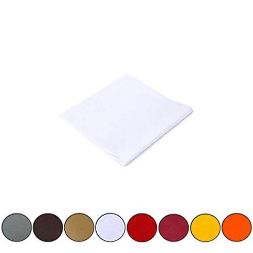 Palucart Tovaglie in TNT Tessuto Non Tessuto Misura 100x100cm Diverse quantità e Colori (Bianco, 25)