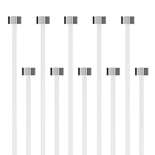hang-it Perlonseil mit Eck-Gleiter für Bilderschienen Galerieschienen - Ø 2mm - Länge 1,50m - Set 10 Stück Perlonseile mit Gleiter