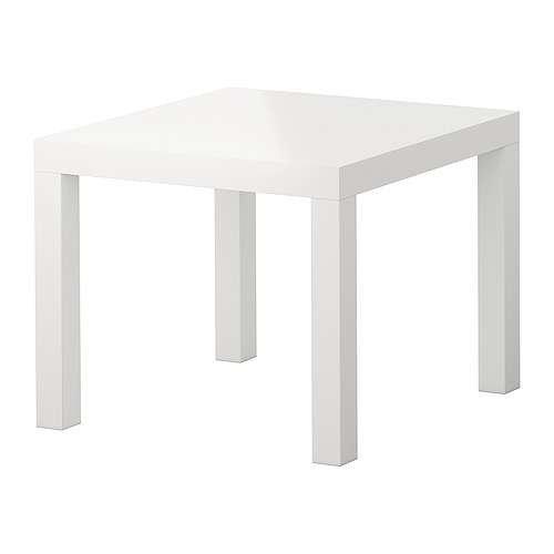 LACK/サイドテーブル/ハイグロス ホワイト IKEA イケア