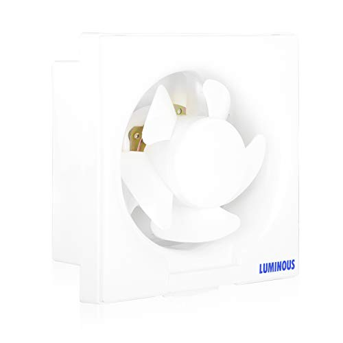 Luminous Vento Deluxe 150mm Exhaust Fan for Home, Office, Kitchen and Bathroom (7.5 inches, White/Black)