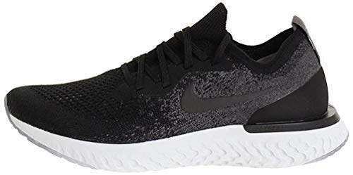 Nike Epic React Flyknit, Scarpe da Ginnastica Basse Uomo, Multicolore (Black/Black/Dark Grey/Pure Platinum 001), 42.5 EU