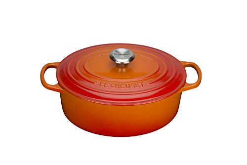 LE CREUSET BRÄTER OVAL SIG 40 cm OFENROT, Gusseisen, Orange, One Size