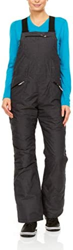 Swiss Alps Womens Insulated Waterproof Breathable Performance Ski Bib Pant with Pockets Grey product image