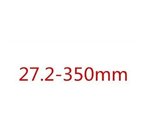 HUANGMG Tija de sillín Ajuste for Bicicletas Seatpost 25.4/27.2/30.8/31.6mm Tija de sillín de Bicicleta del Camino Varilla de Carbono Tija de sillín del Asiento Tubo 3K Mate (Color : 350 x 27.2mm)
