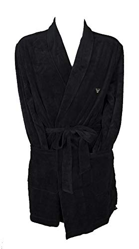 Emporio Armani Underwear Herren Dressing Gown Bademantel, Marine-Marine, L/XL