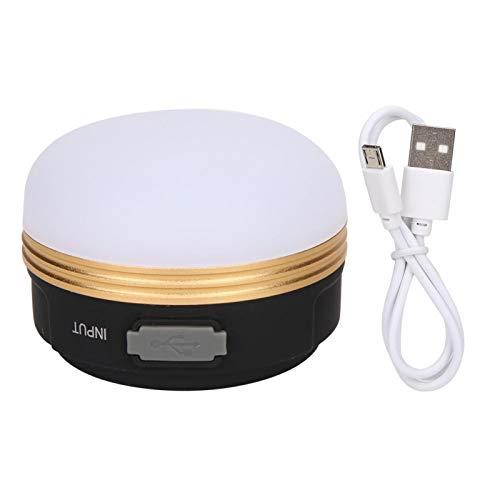 Alomejor Luz LED para Tienda, Linterna magnética Colgante portátil para Tienda con asa Plegable para reparación de automóviles para Acampar(Golden Circle USB)