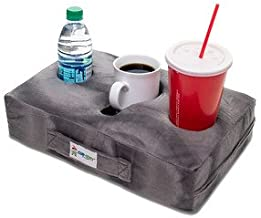 Cup Cozy Pillow (Gray) As Seen on TV-The world's BEST cup holder! Keep your drinks close and prevent spills. Use it anywhere-Couch, floor, bed, man cave, car, RV, park, beach and more!
