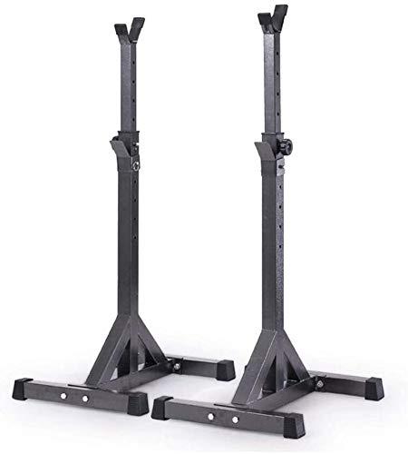 Suge Ajustable en cuclillas en rack Peso de elevación prensa de banco de cuclillas en rack, con barra bastidor soporte Peso de elevación del estante del estante de Split banco con mancuernas soporte e