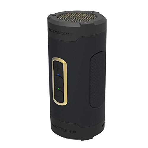 SCOSCHE boomBOTTLE+ Rugged Waterproof Wireless Bluetooth Speaker (Black/Space Gray)
