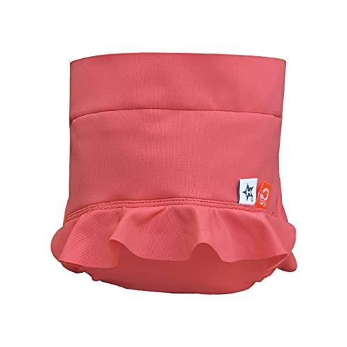 Couche piscine anti-fuite et anti-UV Hamac lavable - réutilisable - Coloris : Falbala (avec froufrou) - Taille : 24 mois et + (9-17 kg)