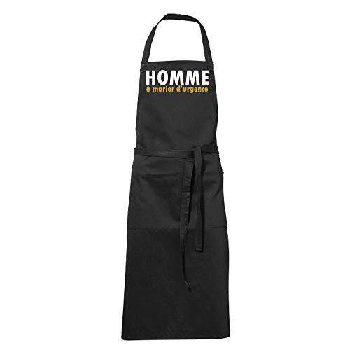 Delantal de cocina negro humorístico para hombre, para boda de emergencia, regalo para el día de la madre, padre, Navidad
