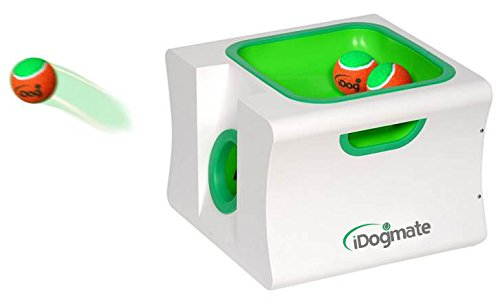 Dog Ball Launcher, iDogmate Automatische Ballwurfmaschine wiederaufladbar Ball Thrower Interaktives Fetch Maschine mit 3 Safe Bälle