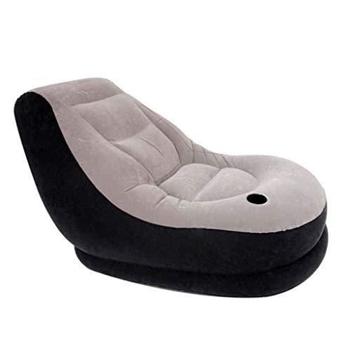 ZLL-Luftmatratze Luft Betten Latex Aufblasbare Liege, Aufblasbare Couch Luft Liegen Indoor/Outdoor, Wasserdichte Luft Sofa + Fußstütze + Reparatur Kit