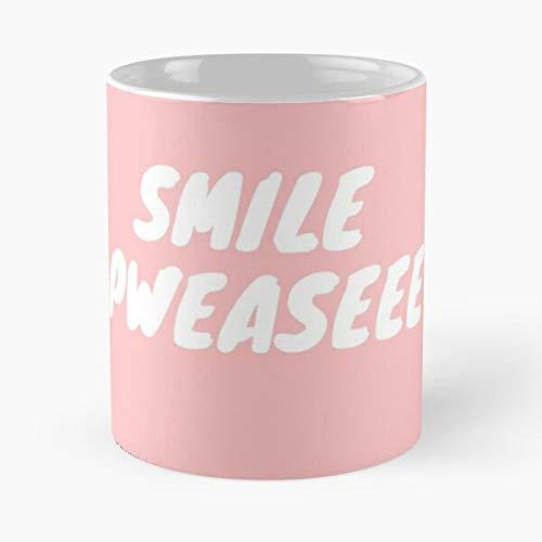 Pink Smile Girls Please Cute White Cheap Come Food Bite John Best Taza de café de cerámica de 11 oz