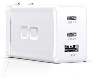 CIO LilNob iPhone12 USB PD 充電器 65W GaN(窒化ガリウム) Type-C ACアダプター 3ポート USB PD3.0 【世界最小】 USB-C 急速充電器 軽量 タイプC PPS iPhone Android...