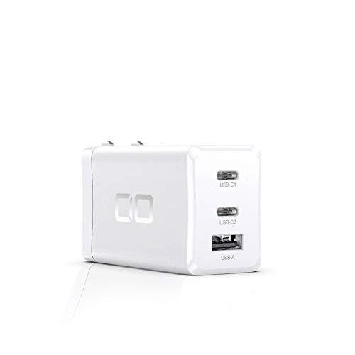 CIO LilNob USB PD 充電器 65W GaN(窒化ガリウム) Type-C ACアダプター 3ポート USB PD3.0 【世界最小】 USB-C 急速充電器 軽量 タイプC PPS iPhone Android Macbook Pro iPad Pro ノートパソコン Switchなど対応(ホワイト)