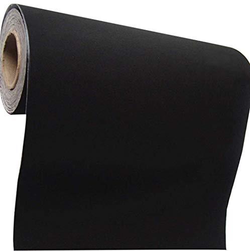Self Adhesive Velvet Flocking Liner for Jewelry Drawer Craft Fabric Peel Stick15.8' x 158' (Black)