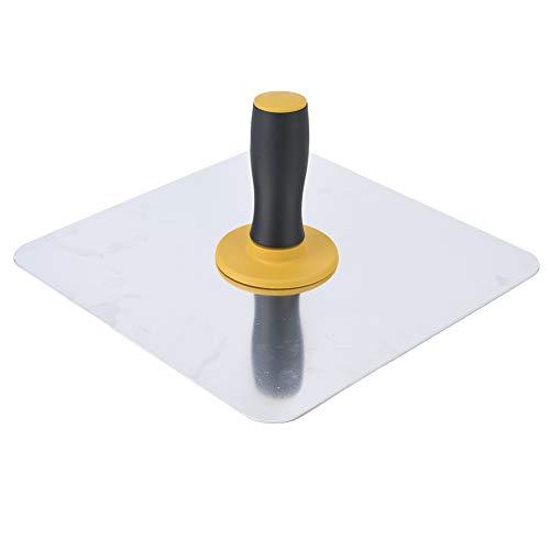 Esquinas redondas de yeso Hawk 11.8 pulgadas * 11.8 pulgadas Bandeja de barro llana Aluminio Hawk Placa de aluminio con mango cómodo para cemento de mortero de paneles de yeso