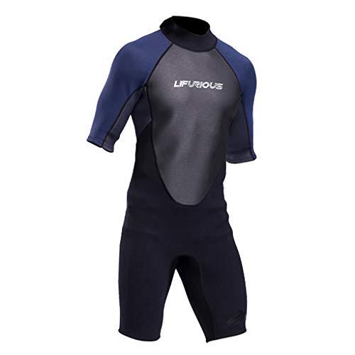 Terno de mergulho de neoprene de 3 mm da Tongina, masculino, feminino, surfe, mergulho, traje de banho para adultos, térmico, uma peça, roupa de banho para caiaque - M