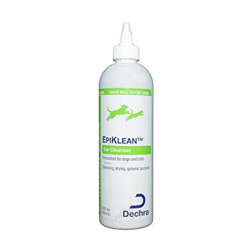 Dechra EpiKlean Ear Cleanser for Dogs & Cats (12oz) - Cleansing, Drying & General Purpose