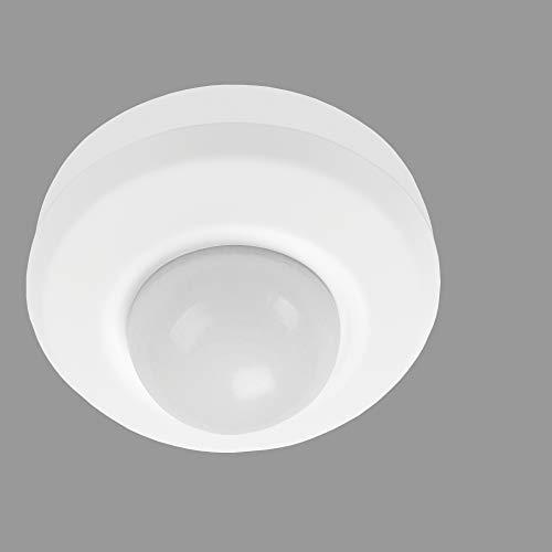Telefunken - Bewegungsmelder, Bewegungssensor 360°, Reichweite max. 20m, inkl. Zeiteinstellung, max. 2.000 Watt, IP44, Weiß, Ø11,2cm