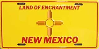 New Mexico State Flag Aluminum Automotive Novelty License Plate Tag Sign