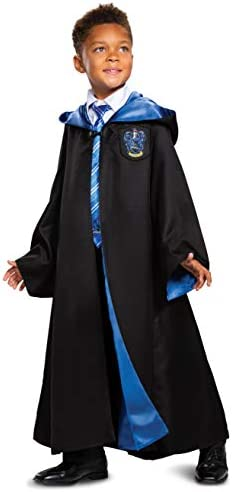 Harry Potter Ravenclaw Robe Prestige Children s Costume Accessory Black Blue Kids Size Medium product image
