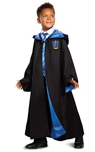 Harry Potter Ravenclaw Robe Prestige - Accesorio para disfraz infantil, color negro y azul, talla grande (10-12)