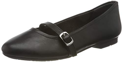 Jana Softline Damen 8-8-22160-25 Ballerinas, Black, 40 EU