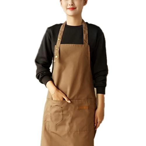 Maduoer Delantal de chef ajustable, delantal de cocina, utilizado para barbacoa, jardinería,...