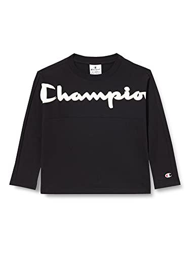 Champion Addicted Long Sleeve T-Shirt, Nero, 16 Anni Bambino