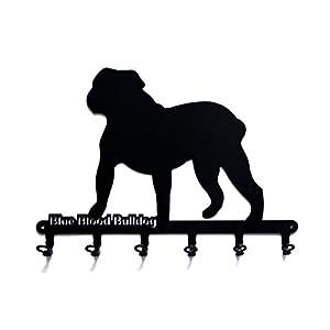 steelprint.de Key Holder - Alapaha Blue Blood Bulldog - Beautiful Key Hook for Wall - 6 Hooks 21