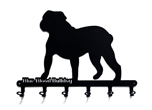 steelprint.de Key Holder - Alapaha Blue Blood Bulldog - Beautiful Key Hook for Wall - 6 Hooks 1