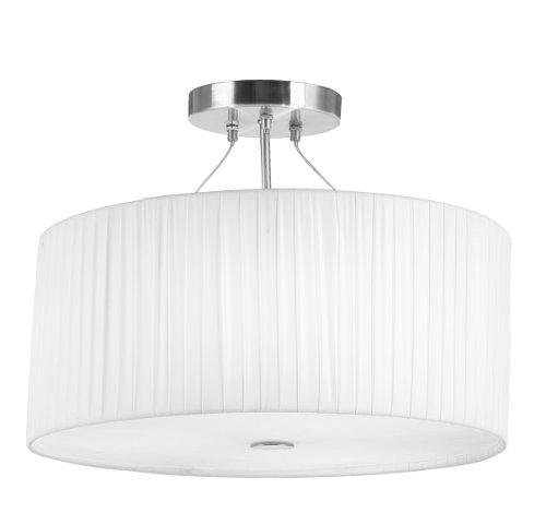 Elegante Decken Lampe Hänge Leuchte Plissee Wohnraum Beleuchtung Globo 15105-3, weiß