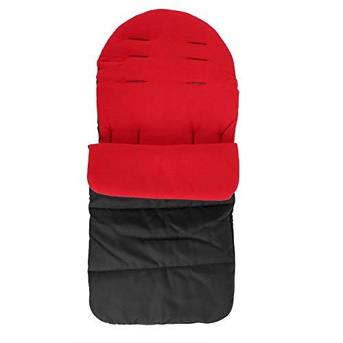 Pasamer Multifonctionnel Chaud Épaississement Bébé Poussette Foot Muff Hiver Automne Extérieur Rouge Noir(01)