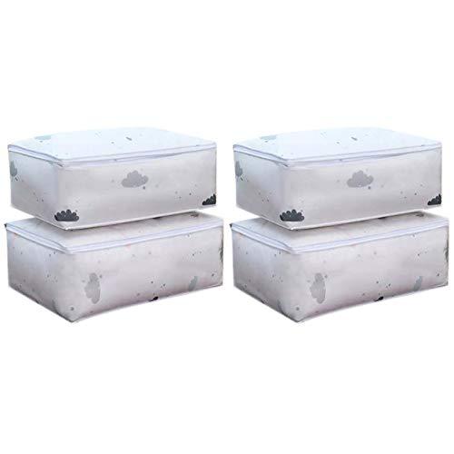 Nrpfell 4 Piezas Organizador de Armario Bolsas de Almacenamiento Conjunto de Embalaje de Maleta Estuches de Almacenamiento Organizador de Equipaje PortáTil Ropa Bolsa Ordenada para Zapatos