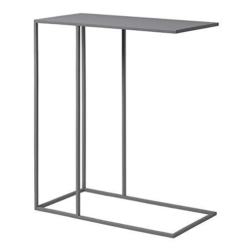 Blomus Beistelltisch FERA, Tisch, Stahl pulverbeschichtet, Steel Gray, 50 x 25 cm, 66014