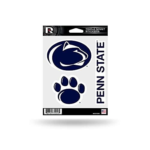 Rico Industries NCAA Penn State Nittany Lions Die Cut 3-Piece Triple Spirit Sticker Sheet
