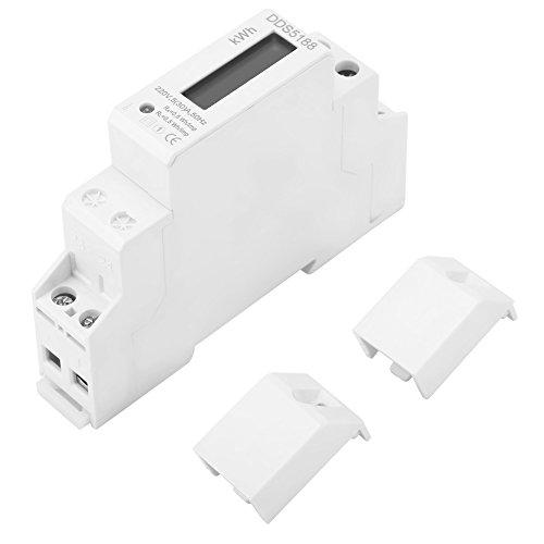220 V digitale elektronische energiekWh-meetinstrument, 5-30 A eenfase, elektronisch DIN-rail-energiemeter, laag stroomverbruik, hoge precisie, hoge overbelasting.