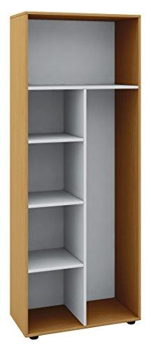 VCM Schrank Universal Staubsauger Besenschrank Mehrzweckschrank Putzschrank Holz buche 178 x 70 x 40 cm