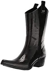 top 10 nomad rubber boots Women's Nomad Ippy Rain Boots Shiny Black 7 Medium US