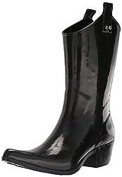 top 10 nomad rubber boots Women's Nomad Ippy Rain Boots Shiny Black 7 Medium US