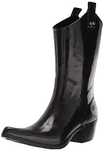 Nomad Women's Yippy Rain Boot, Shiny Black, 8 Medium US