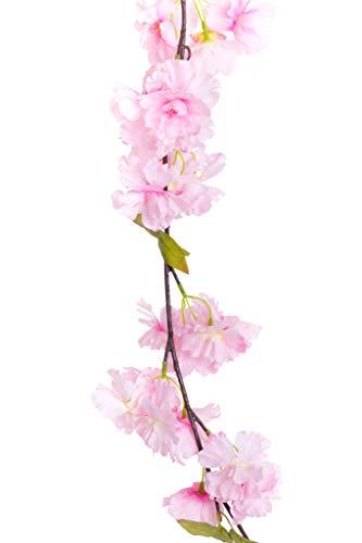JSC künstliche Kirschblütengirlande Frühlingsgirlande (pink)