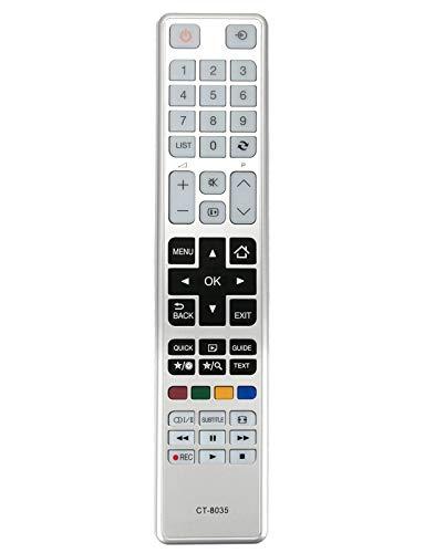 VINABTY CT-8035 Fernbedienung für Toshiba TV 32L3433DG 32W3433DG 40L3433DG 48L3433DG 48W3433DG 32L3441DG 32W3441DG 40L3441DG 40W3441DG 48L3441DG 48W3441DG 32W3443DG 40L3443DG 48W34D